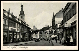 ALTE POSTKARTE ST. INGBERT KAISERSTRASSE Karlsberg Bräu Mercedes Padderatz Zigaretten SAAR SAARGEBIET Cpa Postcard AK - Saarpfalz-Kreis