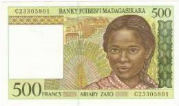 500 Francs , Neuf , New - Madagascar