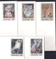Australia 1980 Wildlife Series Of 5 Mint PSEs - Prestamped Envelopes - Possum, Frilled Lizard, Koala, Kangaroo, Glider - Postal Stationery