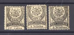 Turquie  -  Taxes  :  Mi  16-18  *      Dentelé 11 1/2 - 1921-... République