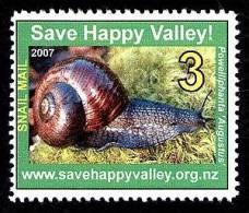 Save The Happy Valley Snails Fantasy Stamp 2007. - Cinderellas
