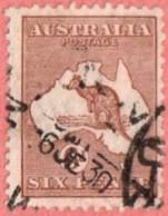 AUS SC #96  1929 Kangaroo And Map W/nibbed Perf @ TL, CV $22.50 - 1913-48 Kangaroos