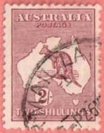 AUS SC #99  1929 Kangaroo And Map, CV $29.00 - Used Stamps