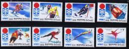 MANAMA  Jeux Olympiques De Sapporo Ski, Bobsled, Hockey, Patin Michel 562-9 * - Ajman
