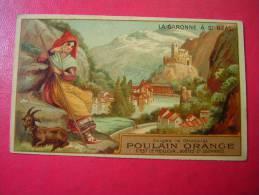 CHROMO CHOCOLAT POULAIN ORANGE  LA GARONNE A ST BEAT - Poulain
