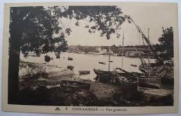29 : Concarneau - Vue Générale - Petit Port - Bateaux - Barques De Pêche échouées Au Premier Plan - Concarneau