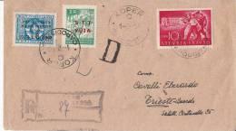 Trieste 1950 Rare Mixed Franking Istria - STT VUJA On Travelled Letter To Trieste - Occup. Iugoslava: Trieste