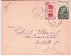 1953- Enveloppe Par Avion Affr. à 15 F  De BOUTILIMIT  ( Mauritanie ) Pour La France - Covers & Documents