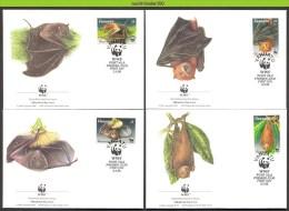 Mwh196fb WWF FAUNA ZOOGDIEREN VLEERMUIZEN FRUIT BATS MAMMALS FLEDERMÄUSE CHAUVE SOURIS VANUATU 1996 FDC´s - Vleermuizen