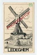 MOULIN A VENT-WINDMUEHLE-LEDEGEM-DESSIN-CP Imprimee Allemande-Guerre14-18- 1 WK-BELGIEN-BELGIQUE-FLANDERN- - Ledegem