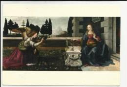 Firenze 1984 Cartolina Galleria Uffizi  L' Annunciazione Di Leonardo Da Vinci - Firenze