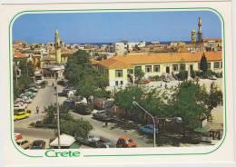 Xania: AUTOBIANCHI A112,RENAULT 4, PICK-UP TRUCK, FORD ESCORT,SIMCA 1100 - Crete  'Splangia' - Auto/Car/Voiture - Greece - Voitures De Tourisme