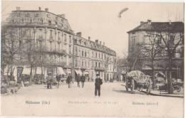 CPA 68 MULHOUSE Place De La Paix Animation Carte Allemande 1904 - Mulhouse