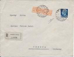1944 Raccomandata In Emergenza Pacchi Postali Regno Da Grignasco  Per Cressa (Novara) - 1944-45 République Sociale