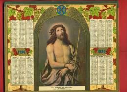 ALMANACH DES POSTES ET TELEGRAPHES 1936 CHRIST AU ROSEAU CHROMO MIGNARD MUSEE DES AUGUSTINS TOULOUSE IMPRIMEUR OBERTHUR - Calendriers