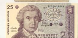 BILLET 25 DINARS #  1991 # NEUF - Croatie