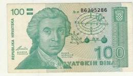 BILLET 100 DINARS #  1991 # NEUF - Croatie