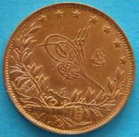 TURKEY, Muhammad V  1909/1918  - 100 Kurush 1912 Gold  Oro Or - Turchia