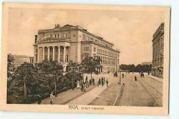 RIGA : Stadt Theater.  2 Scans. - Lettonie