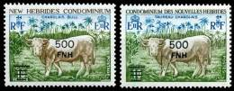 NOUVELLLES ET NEW HEBRIDES   1977  462 ET 475 - Postzegels