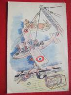 """MILITARIA - GUERRE 1939 / 45 - LE MARIN AVIATEUR APPARTIENT A LA VIE AERIENNE ..."""" ILLUSTRE : L . M . BAYLE """" - War 1939-45"""