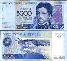 VENEZUELA 5000 5,000 BOLIVARES 2004 P 84 C UNC - Venezuela