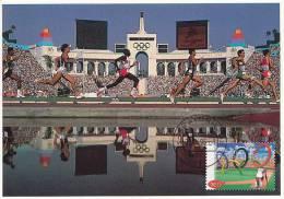 D11544 CARTE MAXIMUM CARD FD 1996 NETHERLANDS - ATHLETICS OLYMPIC RINGS 1996 CP ORIGINAL - Athletics