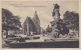 Ak Landsberg A.d. Warthe, Gorzów Wielkopolski, Lebus, Markt Mit St. Marienkirche, 1912 - Polonia
