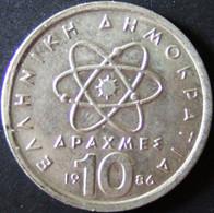 Griechenland - 10 Drachmen 1986 - KM 132 - Vz+ - Griechenland