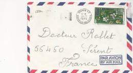 Marcophilie - Enveloppe Par Avion Nouméa Nouvelle Calédonie Pour Sérent Morbihan - T.165 - Unclassified