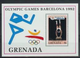 Mua866 SPORT OLYMPISCHE SPELEN TURNEN BOK OLYMPIC GAMES BARCELONA GYMNASTICS MEN´S VAULT PFERDSPRUNG GRENADA 1992 PF/MNH - Zomer 1992: Barcelona