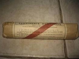 Pansements Aseptiques Français Ministère De La Guerre Service De Santé Type B (moyen) Daté 11 Mars 1961, Longueur : 25cm - Equipement