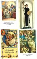 S. BERNARDO ABATE - LOTTO DI 4 SANTINI DIVERSI -  M - Religione & Esoterismo