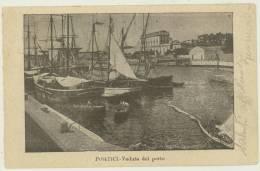 PORTICI VIAGG.1903 -NAPOLI - VEDUTA DEL PORTO BARCHE - Portici