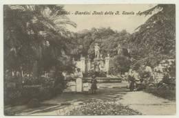 PORTICI -NAPOLI - GIARDINI REALI DELLA R. SCUOLA AGRARIA ANIMATA 1909 - Portici