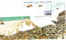Chile 2001 Chilean Antartic Research Birds  S/S MNH - Cile