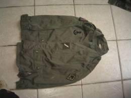 Veste De Treillis Française Sergent 1er Régiment De Chasseurs Avec Pucelle FD PARIS H120, Taille 88M - Uniforms