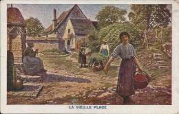 LA VIEILLE PLACE.  (cachet Postal De THUIN De 1929) - Autres