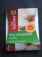 Etiquette Emballage Fromage Chèvre ROCAMADOUR Les Saveurs U 105g - Fromage