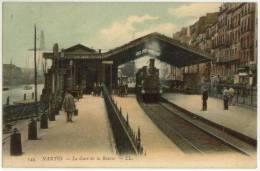 (44) 096, Nantes, LL 144, La Gare De La Bourse (train), Voyagée En 1908, TB - Nantes