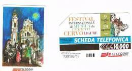 TELECOM ITALIA - C.& C. F3125 -  FESTIVAL  MUSICA DA CAMERA, CERVO LIGURE       - USATA - Italia