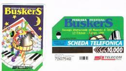 TELECOM ITALIA - C.& C. F3136 -  FERRARA, 1999  12^ RASSEGNA MUSICISTA DA STRADA BUSKERS      - USATA - Italia