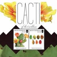 mot1206ss Montserrat 2012 Cacti of the Caribbean Cactus s/s