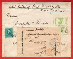 Hongrie - Pli Par Zeppelin Pour Rio De Janeiro - 1933 - Poststempel (Marcophilie)