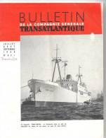 Bulletin De La Compagnie Générale Transatlantique N°521 Jui-Aou-Sep 1956 - Voyage & Divertissement