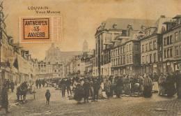 Leuven Louvain Vieux Marché Timbre Surchargé Antwerpen Anvers - Leuven