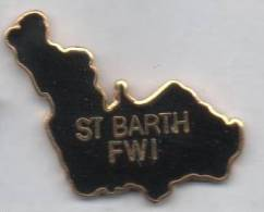 Superbe Pin´s En EGF , St Barth FWI - Cities
