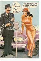 Cpm 10,5 X 15 Cm Illustrateur Carrière Louis Humour Femme Pin Up Loto Policier Parcmètre, Ed Photochrom 50400 - Carrière, Louis