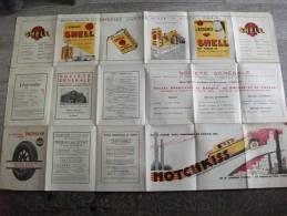 Carte Routière Publicité Shell Côte Vendéenne Vendée Belle-île 1930 Hotchkiss - Roadmaps