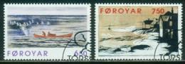 Färöer  1996  Graphiken Von Janus Kamban  (2 Gest. (used))  Mi: 306-07 (3,80 EUR) - Féroé (Iles)